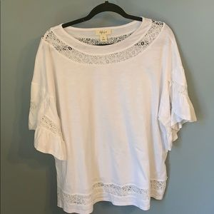 White style & co xl blouse with ruffled sleeve